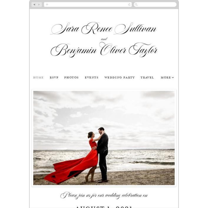 """""""Side by Side"""" - Bohemian Wedding Websites in Snow by Carolyn MacLaren."""