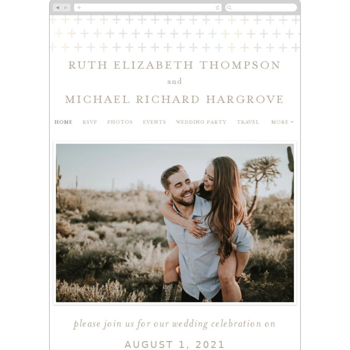 """Join Us"" - Wedding Websites in Taupe by Heather Cairl."