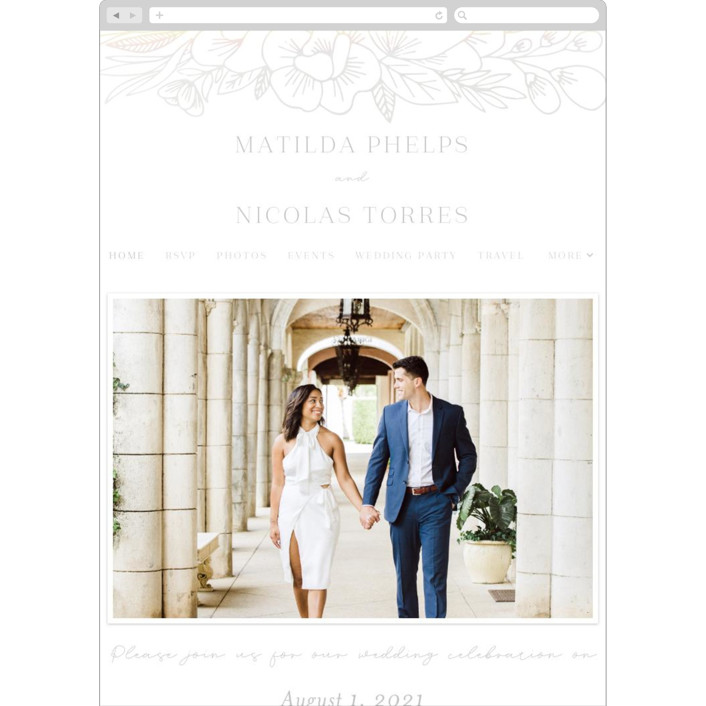 """Refined Bouquet"" - Wedding Websites in Glacier by Olivia Raufman."