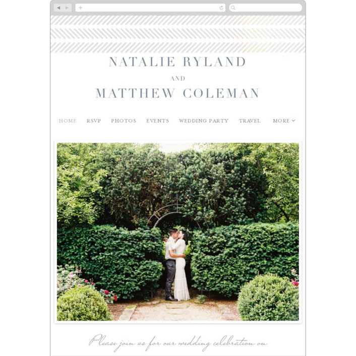 """""""elegant herringbone"""" - Wedding Websites in Snow by Paper Dahlia."""