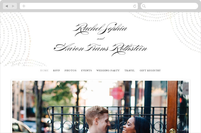 """Bespeckle"" - Wedding Websites in Pearl by Benita Crandall."