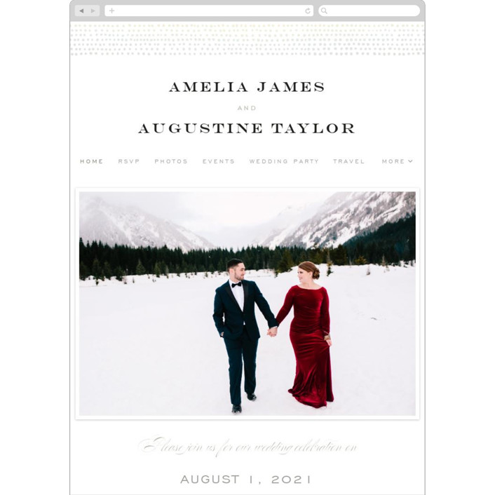 """""""Starburst"""" - Wedding Websites in Diamond by Alethea and Ruth."""