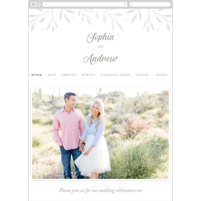 """""""Vineyard"""" - Vintage Wedding Websites in Lace by Tennie and Co.."""