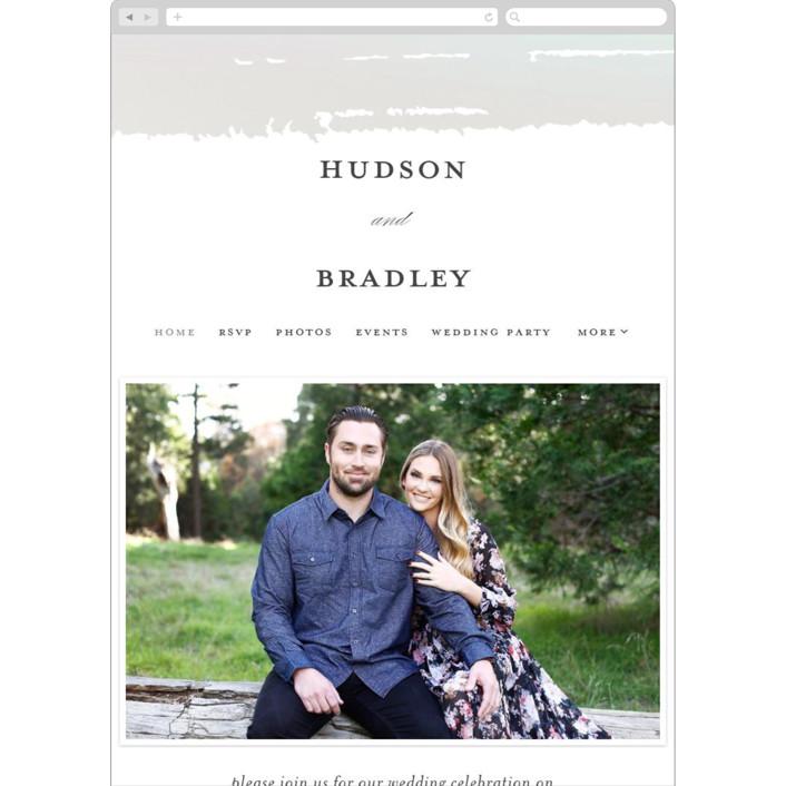 """Gala"" - Vintage Wedding Websites in Opal by Ashley DeMeyere."