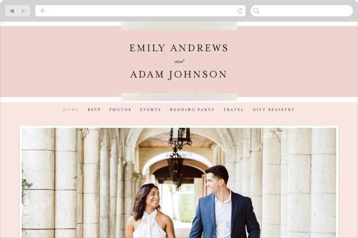 """Classic Bars"" - Wedding Websites in Sky by Kasia Labocki."