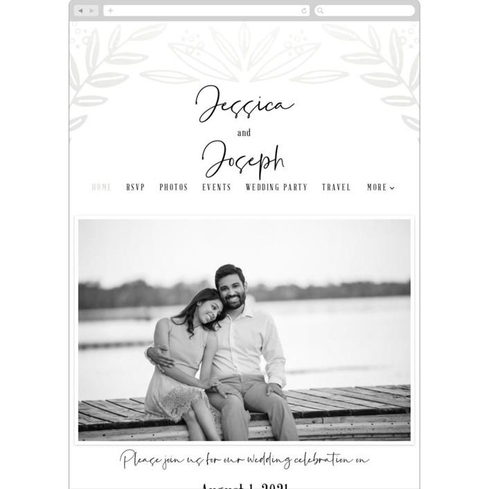 """""""Opal"""" - Wedding Websites in Shimmer by Mayflower Press."""