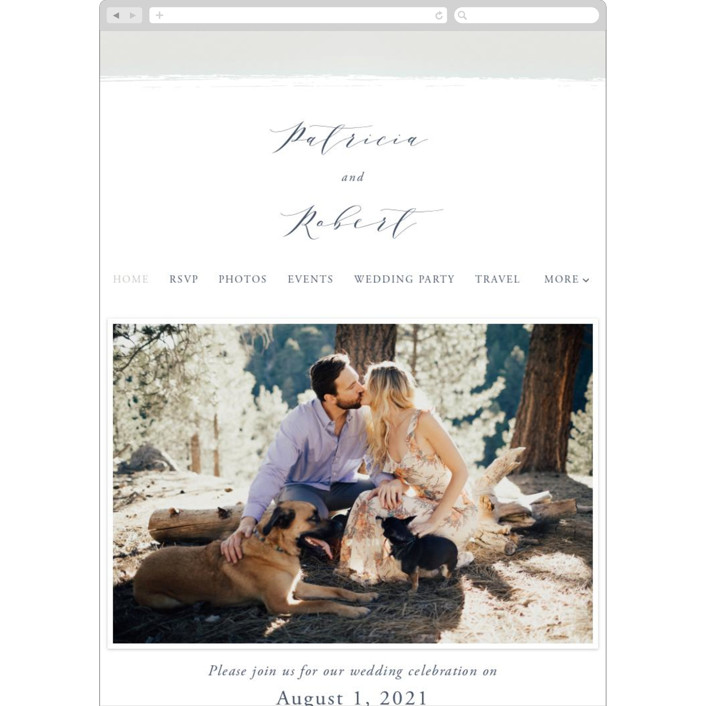 """love heart"" - Wedding Websites in Cloudy by Alexandra Dzh."
