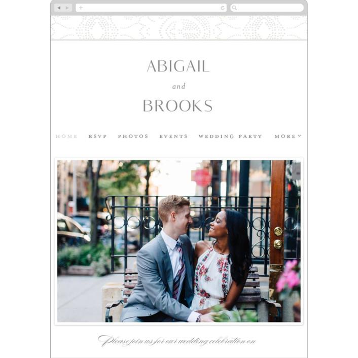 """Nicolette"" - Vintage Wedding Websites in Frost by Susan Zinader."