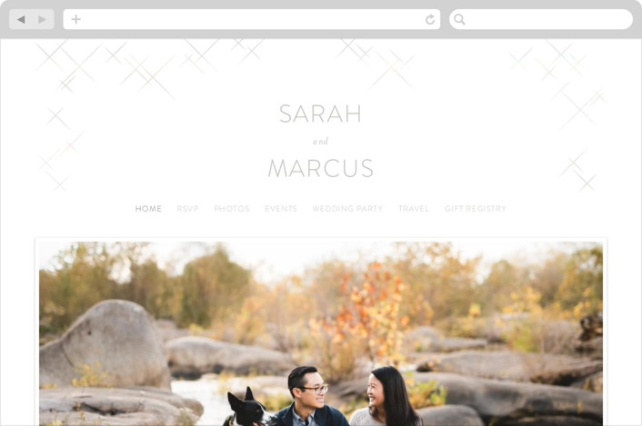 """""""Star Struck"""" - Wedding Websites in Showshine by Kimberly Morgan."""