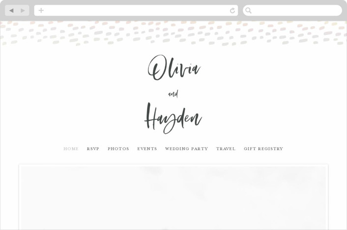This is a white wedding website by Shirley Lin Schneider called Dotted printing on digital paper.