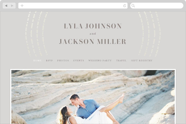"""""""Luminosity"""" - Wedding Websites in Snow by Michelle Taylor."""