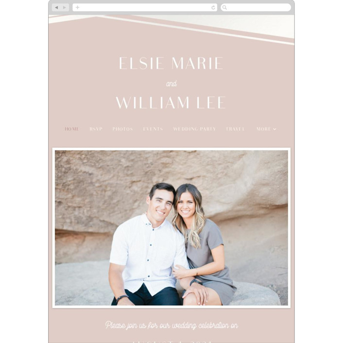 """Radiant Frame"" - Wedding Websites in Shell Pink by Meggy Masters."