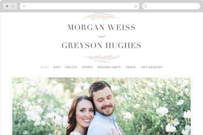 """Laurel Garden"" - Modern Wedding Websites in Pearl by Hooray Creative."