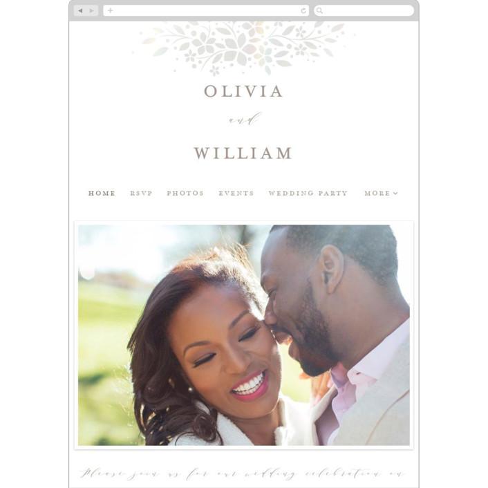 """trellis"" - Wedding Websites in Opal by Melanie Kosuge."