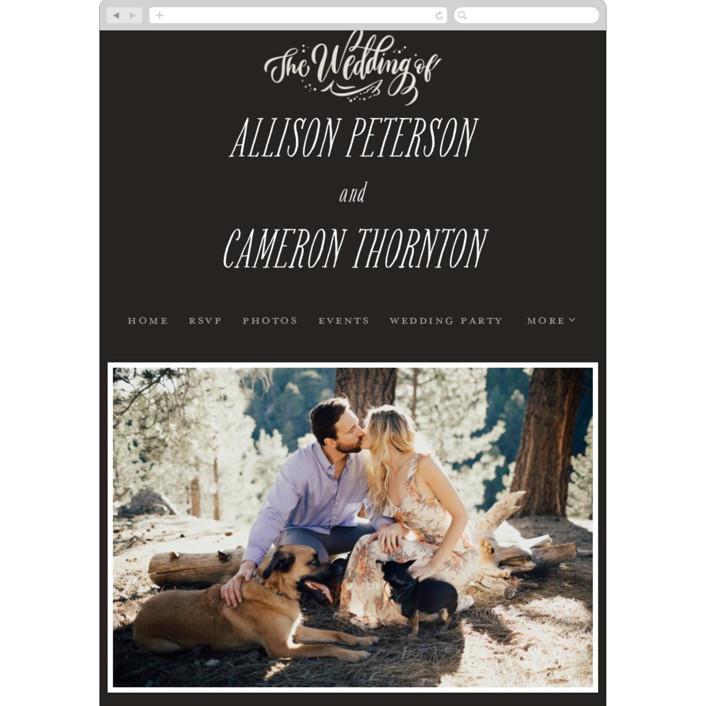 """""""Garden Swirls"""" - Wedding Websites in Fog by Laura Bolter Design."""