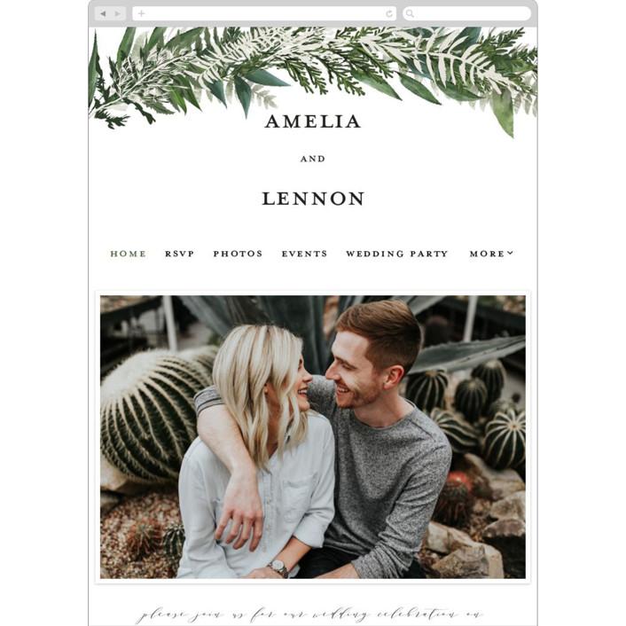 """Fresh Vines"" - Wedding Websites in Snow by Susan Moyal."