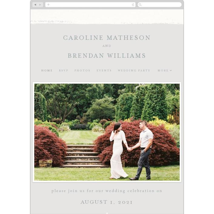 """""""Painted Frame"""" - Wedding Websites in Solstice by Kelly Schmidt."""