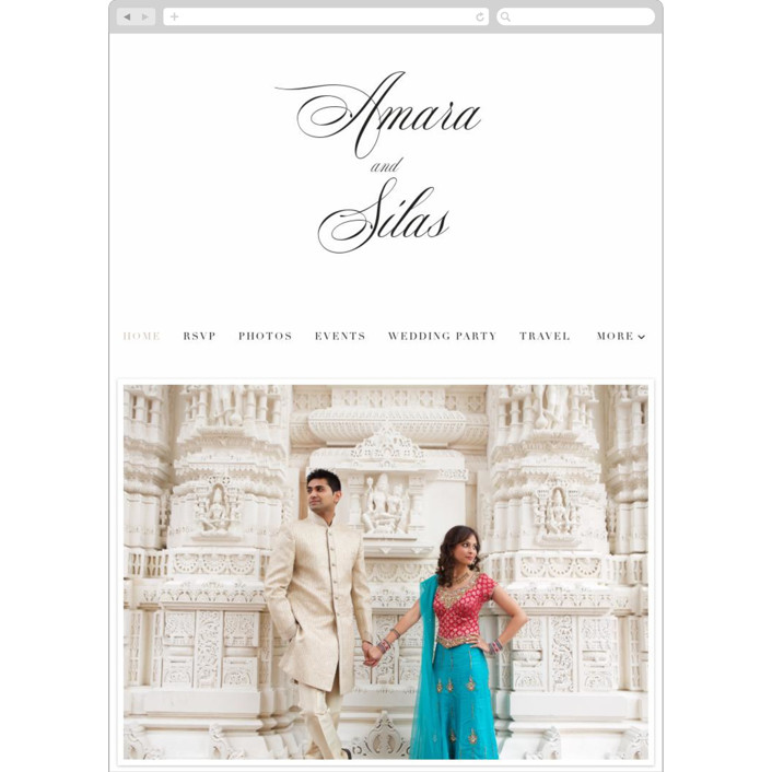 """""""Tailored Stripes"""" - Wedding Websites in Opal by Griffinbell Paper Co.."""