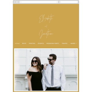 This is a yellow wedding website by JoAnn Jinks called Marked printing on digital paper.