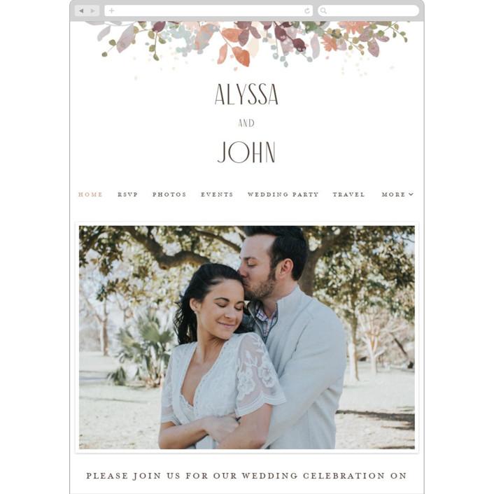 """""""Wesleyan Hill"""" - Wedding Websites in Wildflower by Jennifer Wick."""