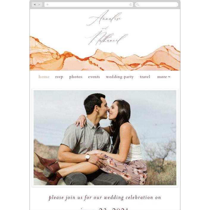 """Sandstone"" - Wedding Websites in Topaz by Erin Deegan."