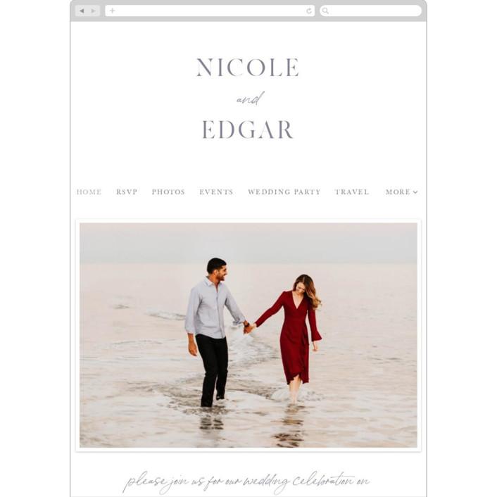 """""""Lavender Fields"""" - Wedding Websites in Lavender by Hooray Creative."""