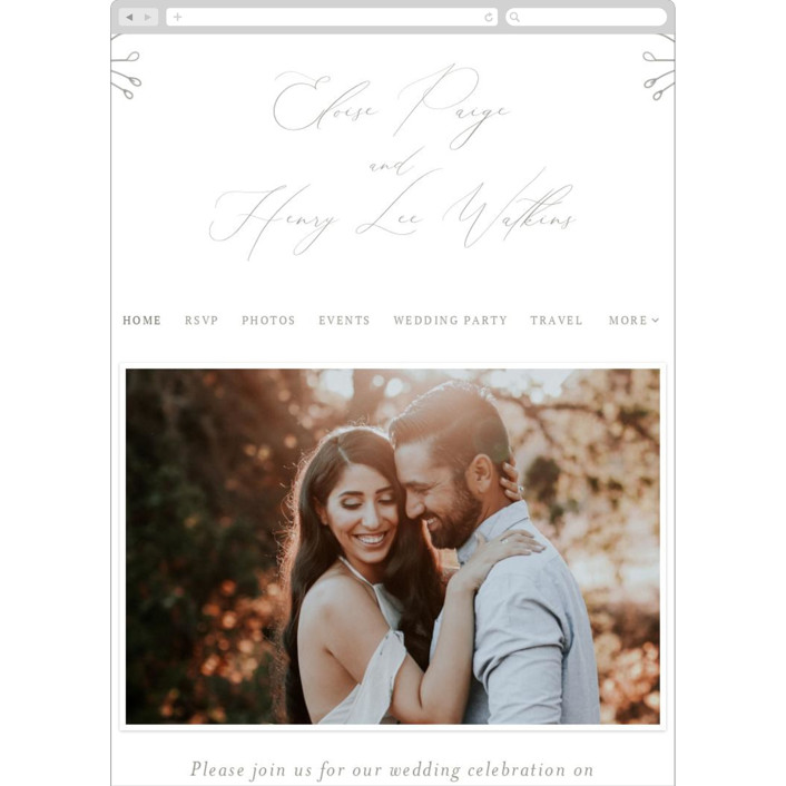 """Essential"" - Wedding Websites in Mist by Design Lotus."