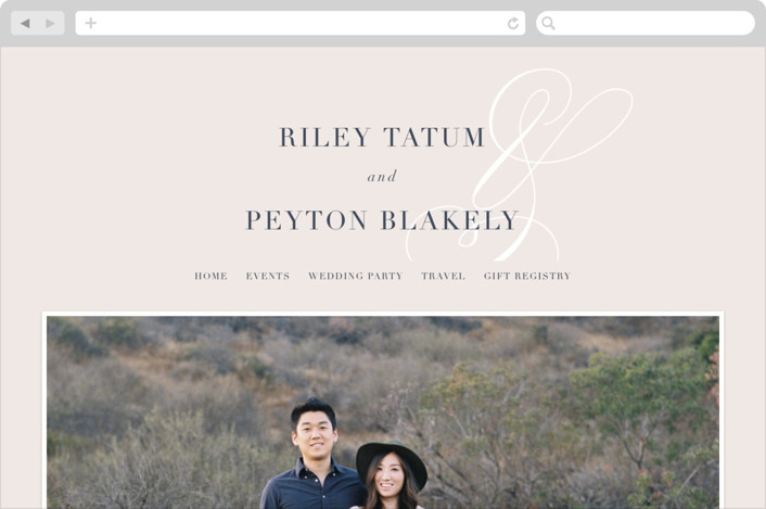 """Fresh Monogram"" - Bold typographic, Monogram Wedding Websites in Latte by Lauren Chism."
