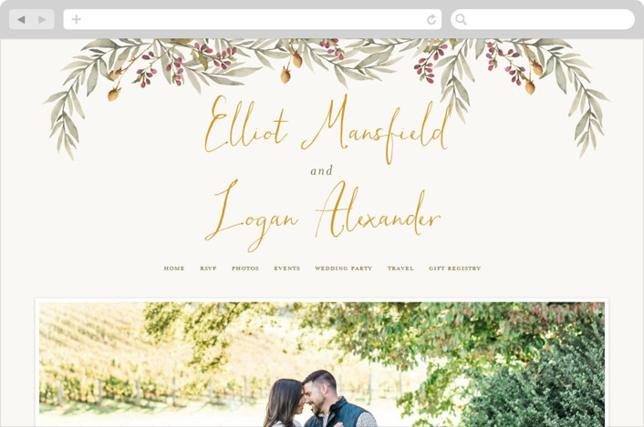 """Summer Love"" - Rustic Wedding Websites in Sunflower by Wildfield Paper Co.."