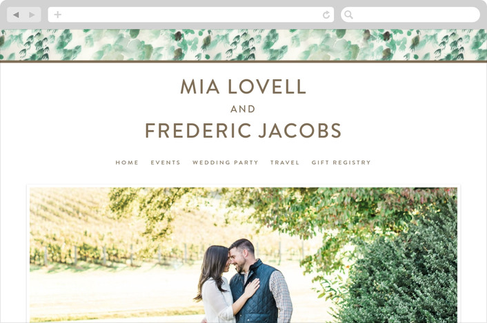 """""""Painted"""" - Wedding Websites in Sea Glass by Sara Hicks Malone."""