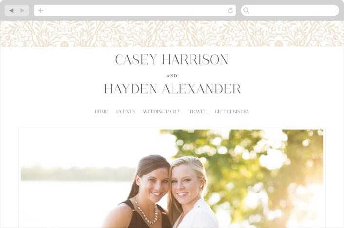 """Morris"" - Monogram, Elegant Wedding Websites in Champagne by Shayna Brown."