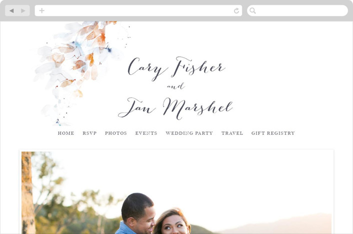 """""""Petale"""" - Abstract, Floral & Botanical Wedding Websites in Blush by Kelly Ventura."""