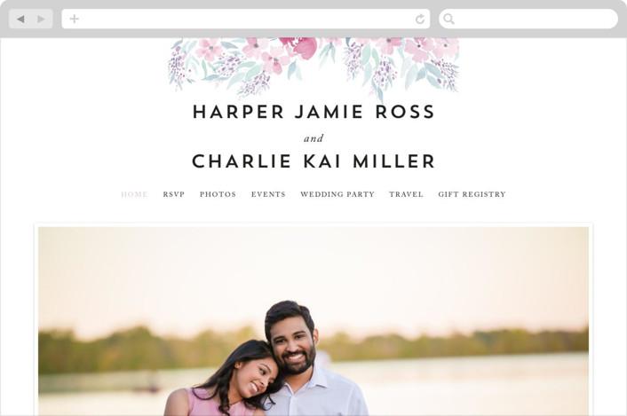 """""""Poetic Watercolor Flowers"""" - Floral & Botanical Wedding Websites in Petal by Qing Ji."""