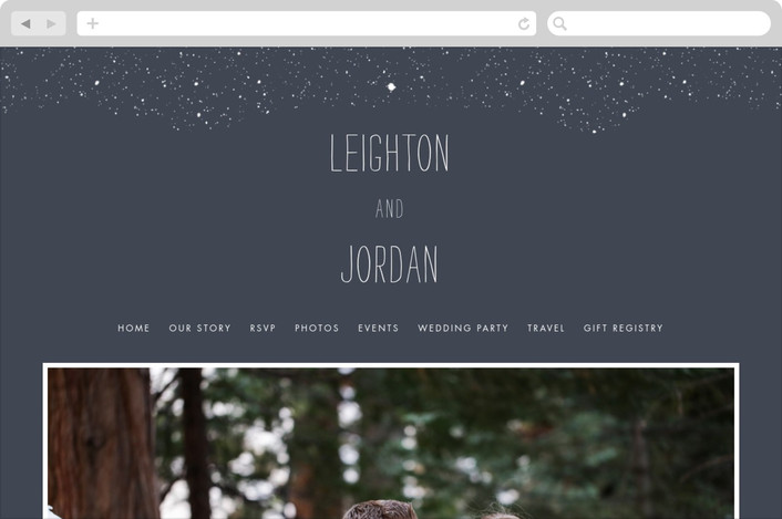 """Snowy Soiree"" - Classical, Whimsical & Funny Wedding Websites in Midnight by thenickdyer."