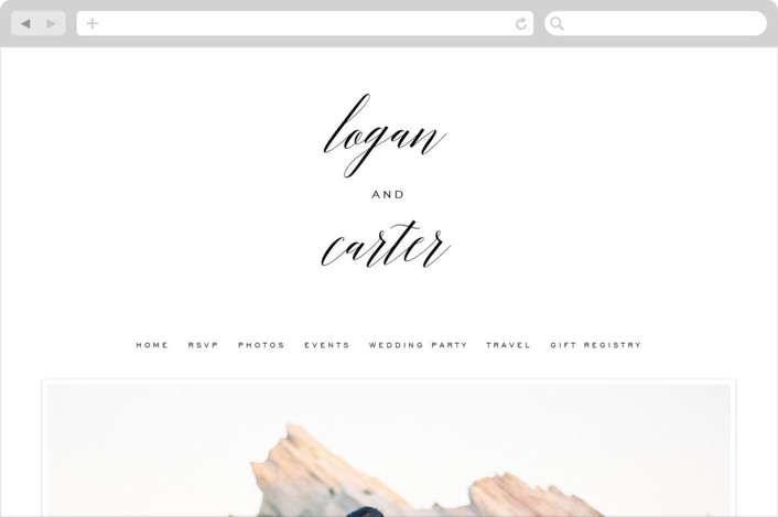 """Someone Like You"" - Elegant, Classical Wedding Websites in Tuxedo by Design Lotus."