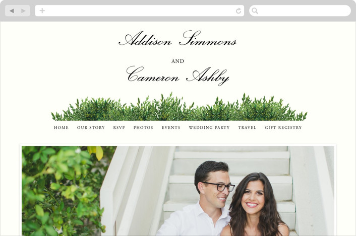 """The Garden"" - Rustic Wedding Websites in Cream by Elly."