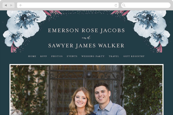 """Vivid Blooms"" - Floral & Botanical Wedding Websites in Dusk by Grace Kreinbrink."