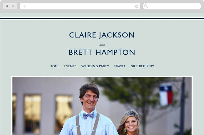 """Rope Ampersand"" - Beach, Modern Wedding Websites in Seafoam by Jill Means."