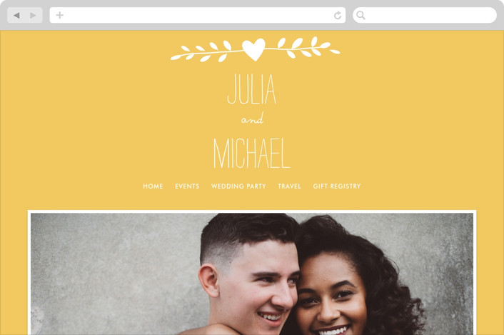 """""""Quite Simply"""" - Hand Drawn, Whimsical & Funny Wedding Websites in Sunflower by Robin Ott."""