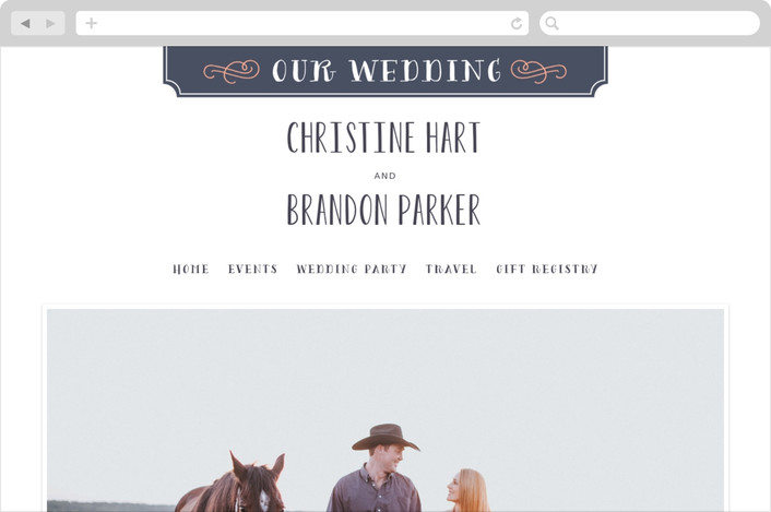 """Serendipity"" - Wedding Websites in Midnight by Sarah Guse Brown."
