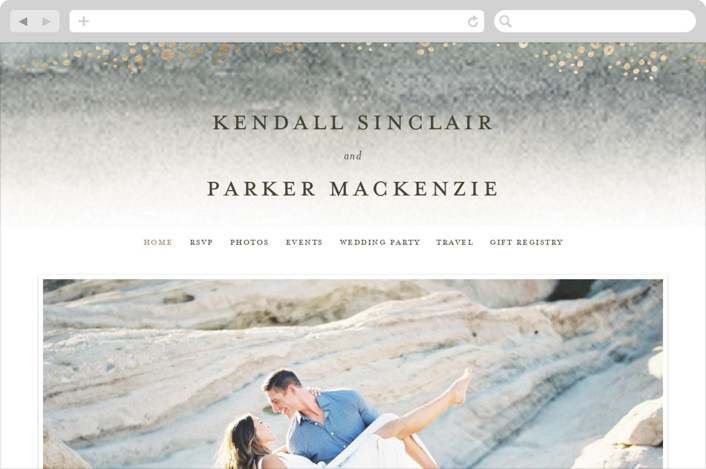 """""""OCEANS"""" - Wedding Websites in Ocean by Wildfield Paper Co.."""
