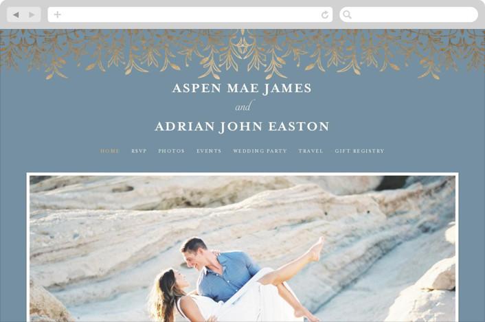 """""""EMERY"""" - Wedding Websites in Slate by Melanie Kosuge."""