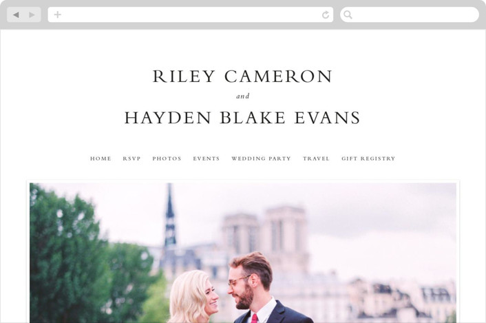"""""""over and over"""" - Wedding Websites in Soft Peach by Lea Delaveris."""