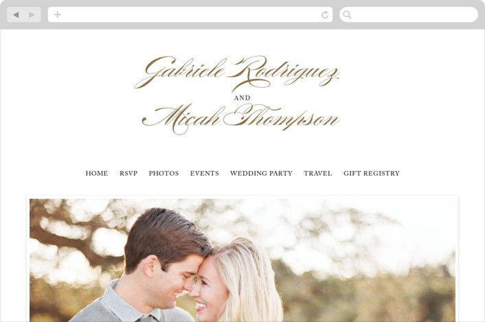 """Flourish"" - Elegant, Classical Wedding Websites in Antique by Jennifer Postorino."