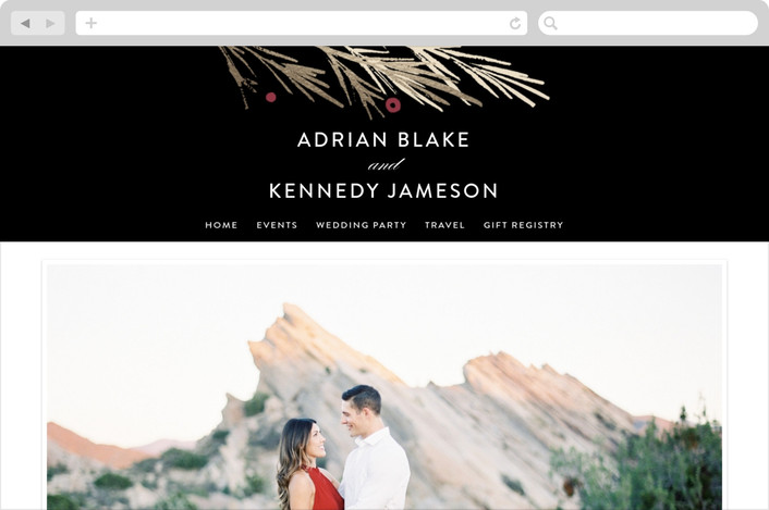 """Winter Berry"" - Wedding Websites in Tuxedo by Kelly Nasuta."
