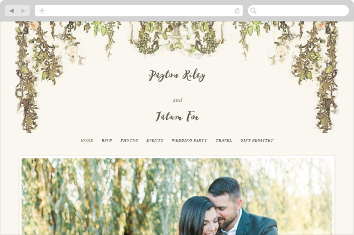 """English Countryside"" - Simple, Rustic Wedding Websites in Moss by Design Lotus."