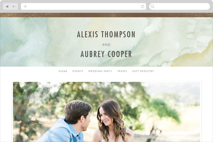 This is a green wedding website by Elly called Gratitude printing on digital paper.