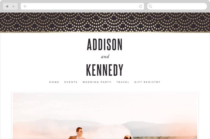 """Shimmer"" - Wedding Websites in Indigo by Kampai Designs."