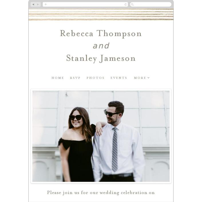 """Bianco"" - Wedding Websites in Gold by chocomocacino."