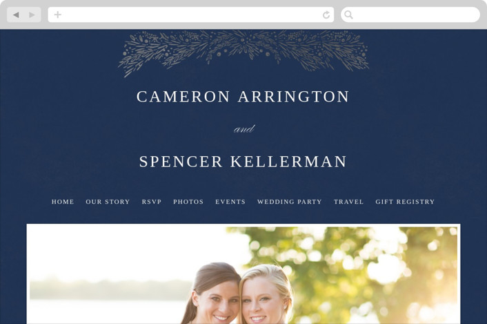 """Folio"" - Wedding Websites in Midnight by Kristie Kern."